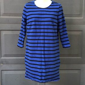 Old Navy Dresses - Old Navy   Black & Blue Striped Long Sleeve Dress
